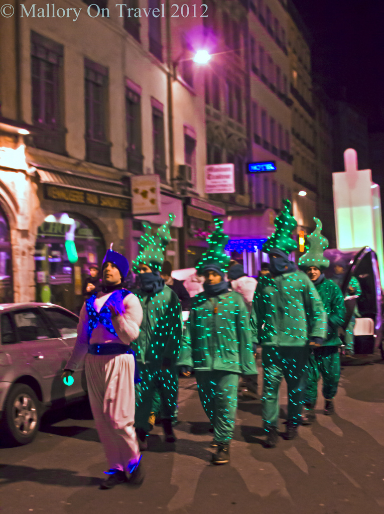 Walking Christmas trees the Lyon Festival of Lights in the Rhône-Alpes region of France on Mallory on Travel, adventure, photography Iain Mallory-300-66