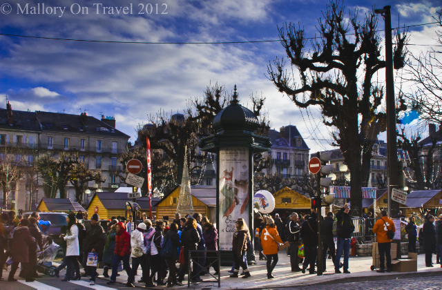 Christmas market in Grenoble in the Rhône-Alpes region of France on Mallory on Travel, adventure, photography