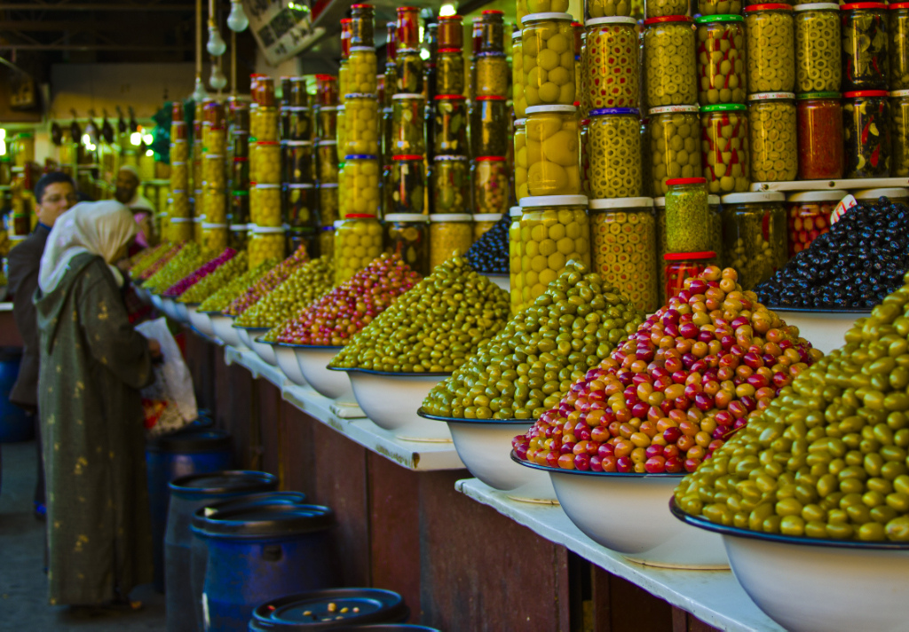 Romance and Olives in the souks of Marrakech, in Moroccan North Africa on Mallory on Travel, adventure, adventure travel, photography