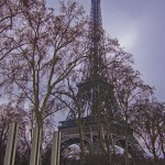 Paris; Eiffel's Tower and Suburbs in the Mist