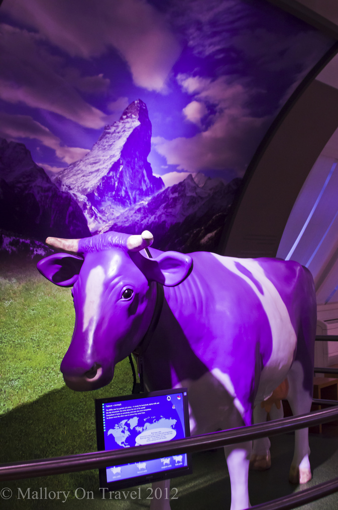 Sightseeing; the milka cow at the Lindt chocolate factory and museum in Cologne, Germany on Mallory on Travel, adventure, adventure travel, photography Iain Mallory-300-24