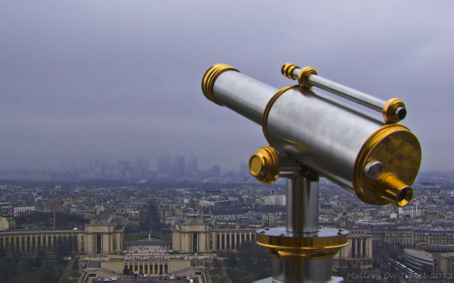 View of Paris from the Eiffel Tower near the River Seine, France on Mallory on Travel, adventure, photography