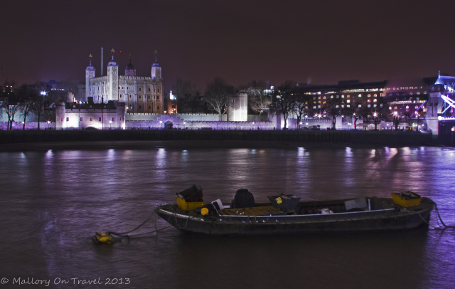 The Tower of London over the River Thames at night from the South Bank, Queen's Walk in London, the United Kingdom  on Mallory on Travel, adventure, adventure travel, photography Iain Mallory-300-47 tower-of-london