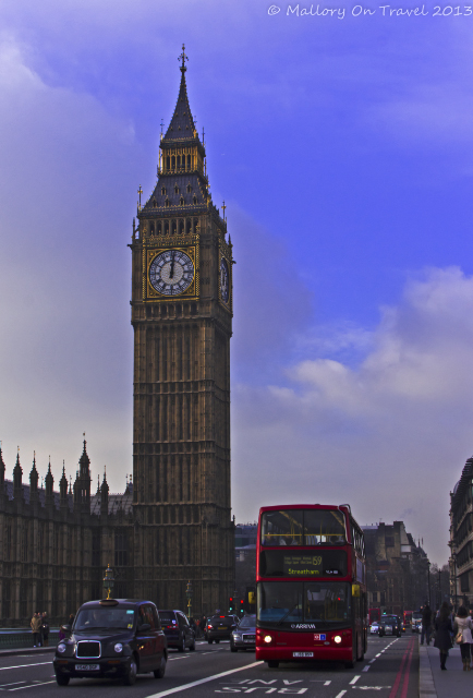 London icons, Big Ben, a red bus and black cab on Westminster Bridge in London, Great Britain on Mallory on Travel, adventure, adventure travel, photography Iain Mallory-300-59 london-icons