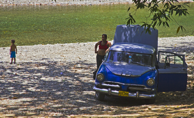 Cacharro or classic car near Baracoa on Cuba in the Caribbean Sea on Mallory on Travel, adventure, adventure travel, photography Iain Mallory-300-12 cuban_classic