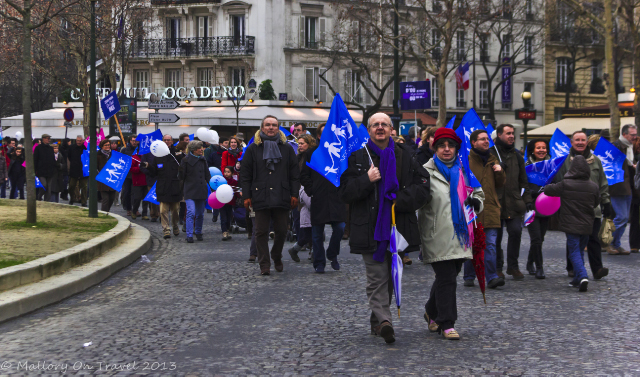 Protest in the Trocadero in Paris, France on Mallory on Travel, adventure, adventure travel, photography Iain Mallory-300-16 protest_trocadero
