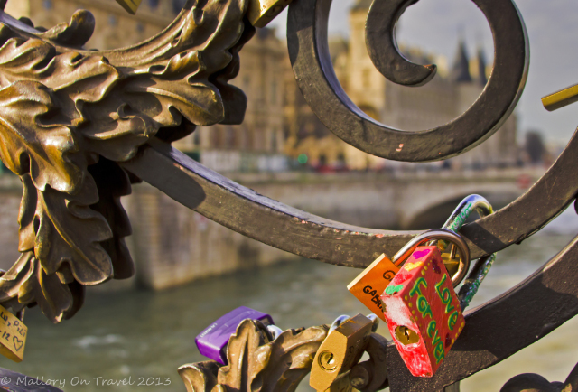 Love locks on a Paris Bridge over the River Seine in France on Mallory on Travel, adventure, adventure travel, photography Iain Mallory-300-26 love_locks