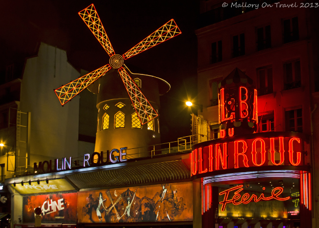 The Moulin Rouge cabaret in the Pigalle Quarter of Montmatre in Paris, France on Mallory on Travel, adventure, adventure travel, photography Iain Mallory-300-38 moulin-rouge