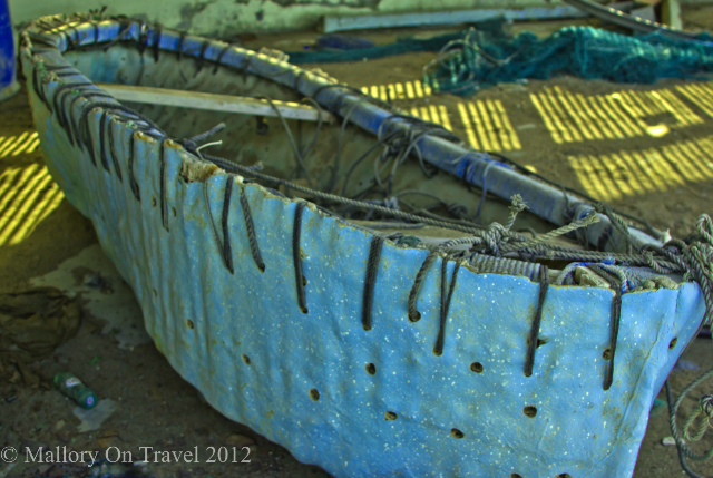 Canoe type fishing vessel in Seeb in the Sultanate of Oman on Mallory on Travel, adventure, adventure travel, photography Iain Mallory -119-2 boat_oman