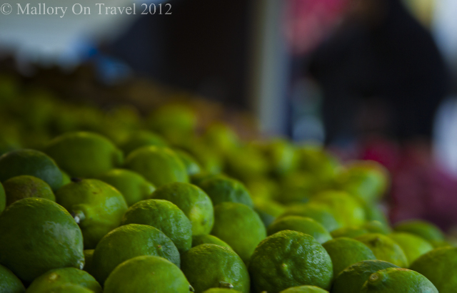 A stall selling limes in a souk in Seeb in the Sultanate of Oman on Mallory on Travel, adventure, adventure travel, photography Iain Mallory -134 market_oman