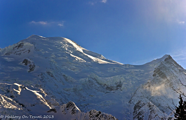 The Mont Blanc massif near Chamonix in the Rhône-Alpes region of France on Mallory on Travel, adventure, adventure travel, photography