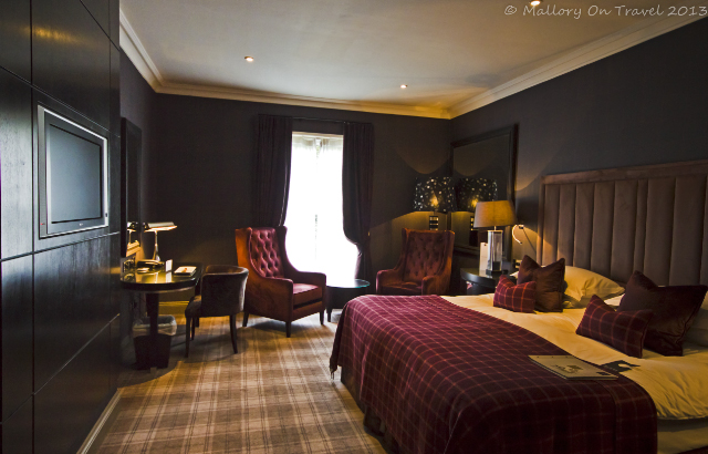 Guest bedroom of the Cameron House hotel, Loch Lomond in Glasgow, Scotland on Mallory on Travel, adventure, adventure travel, photography Iain Mallory-300-5 cameron_house