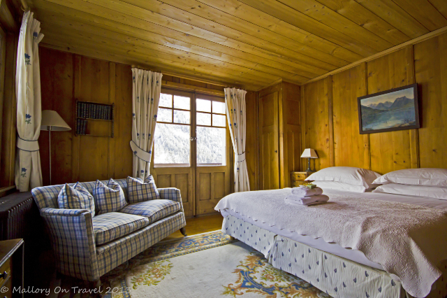 Comfortable room at chalet Les Mazots surrounded by mountains in Chamonix, France on Mallory on Travel, adventure, adventure travel, photography Iain Mallory-300-72