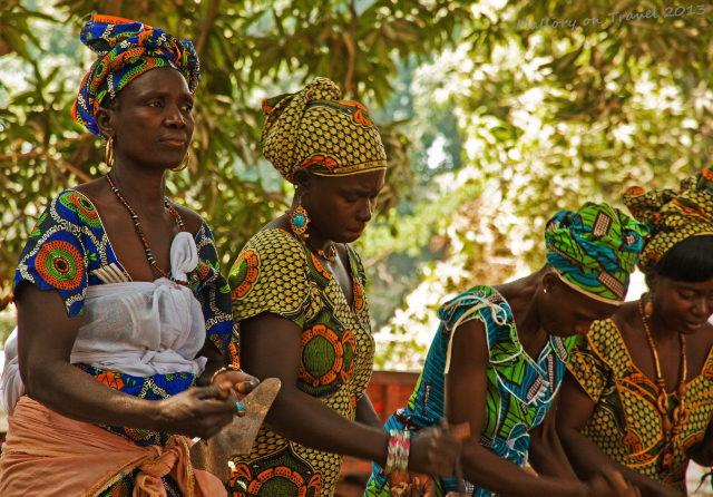 Women dancers of the Jola village of Kanuma at a kumpo in The Gambia, west Africa on Mallory on Travel, adventure, adventure travel, photography Iain Mallory-1517