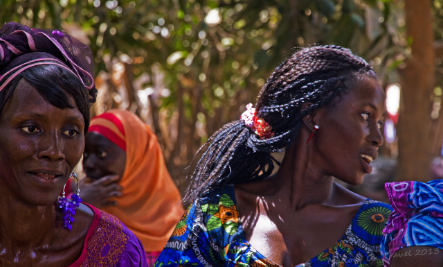 Women dancers of the Jola village of Kanuma at a kumpo in The Gambia, west Africa on Mallory on Travel, adventure, adventure travel, photography Iain Mallory-1650