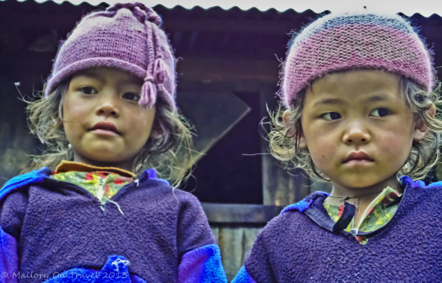 Children of Nepal in Phanding in the Khumbu region on the Everest base camp route on Mallory on Travel, adventure, adventure travel, photography