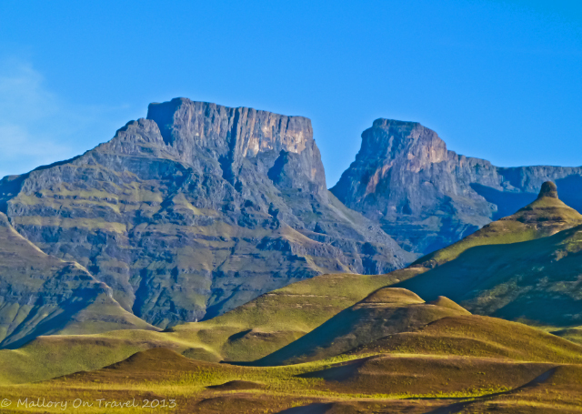 The unique landscapte of the Drakensberg in the KwaZulu-Natal region of South Africa near Durban  on Mallory on Travel, adventure, adventure travel, photography Iain Mallory-300-90_drakensberg
