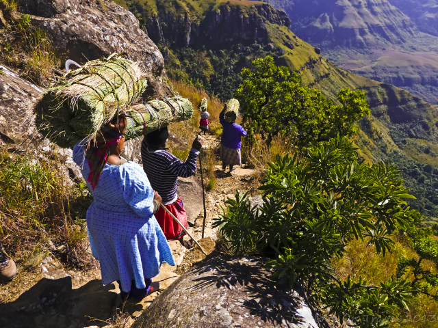 Zulu women in the Drakensberg in the KwaZulu-Natal region of South Africa near Durban on Mallory on Travel, adventure, adventure travel, photography Iain Mallory-300-94 zulu_women