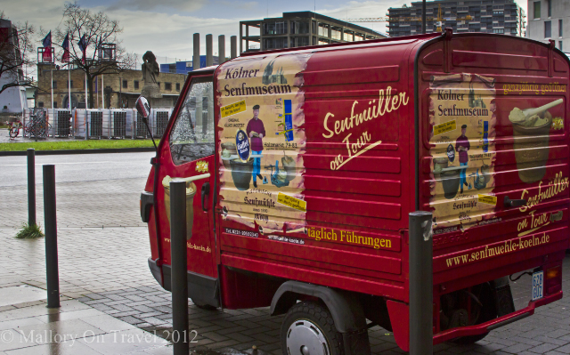 The Senf (mustard) museum mobile van in Cologne, travel in Germany adventure, adventure travel, photography on Mallory on Travel Iain Mallory-300-22-1 mustard_museum
