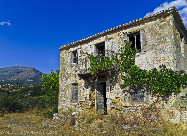 Deserted house above the Viros Gorge near Kardamili in the Peloponnese, Greece on Mallory on Travel adventure, adventure travel, photography Iain Mallory-300-22