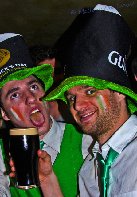 Party goers in Manchester in the United Kingdom celebrating St Patricks Day adventure, adventure travel, photography on Mallory on Travel Iain_Mallory_01257-1