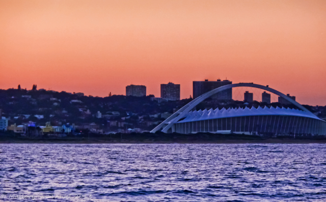 The Moses Mabhida Stadium in Durban in the KwaZulu-Natal, South Africa on Mallory on Travel adventure, adventure travel, photography