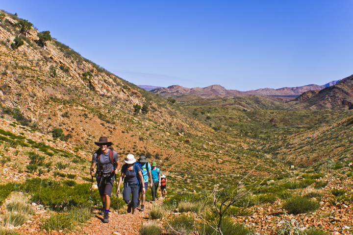 Trekking the Larapinta Trail in the west MacDonnell Ranges of the Northern Territory, Australia on Mallory on Travel adventure, adventure travel, photography Iain Mallory-300-73_larapinta_trekking