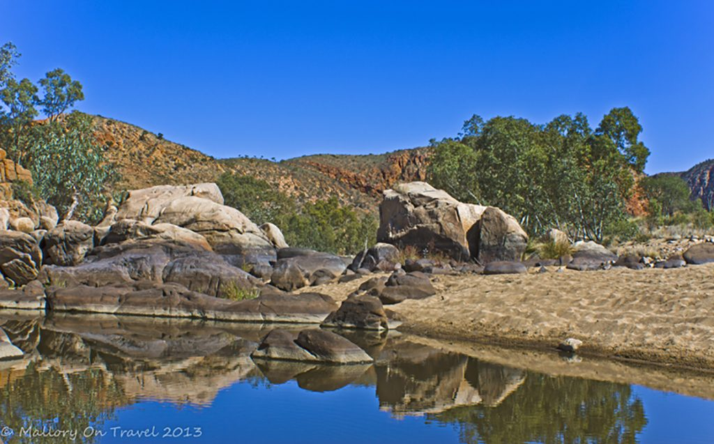 Waterhole in Ormiston Gorge on the Larapinta Trail in the Northern Territory, Australia on Mallory on Travel adventure, adventure travel, photography Iain Mallory-300-79_ormiston_gorge