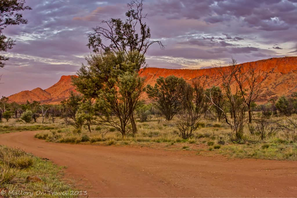 Sunset on the Larapinta Trail in the west MacDonnell Ranges in the Northern Territory, Australia on Mallory on Travel adventure, adventure travel, photography Iain Mallory-300-99_northern_territory