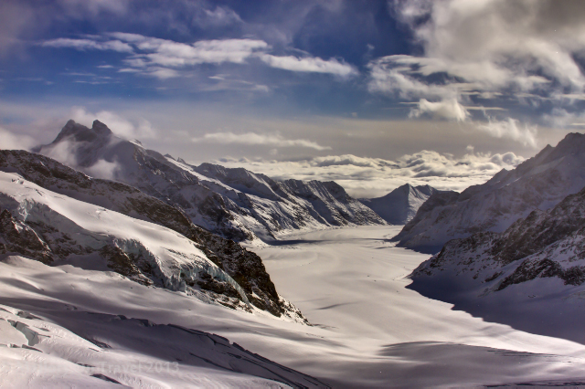 The Aletsch Glacier of the Jungfrau region, Switzerland, the longest glacier in the Alps on Mallory on Travel adventure, adventure travel, photography Iain Mallory-300-13 aletsch_glacier