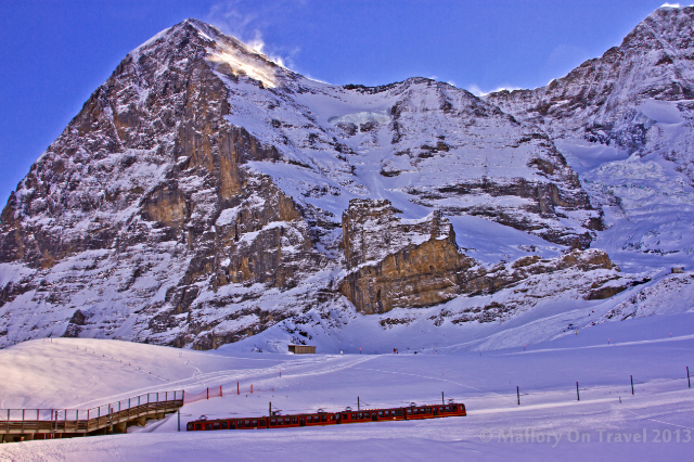 The Jungfrau train under the Eiger in the Bernese Alps, Switzerland on Mallory on Travel adventure, adventure travel, photography Iain Mallory-300-30_eiger