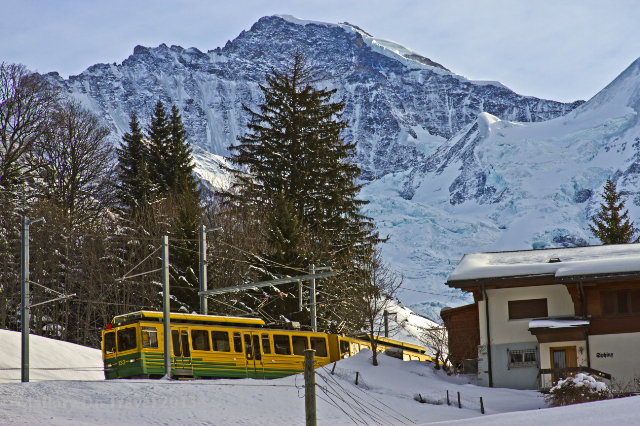 The Jungfrau train in the village of Wengen in the Bernese Oberland, Switzerland on Mallory on Travel adventure, adventure travel, photography Iain Mallory-300-34_bernese_oberland