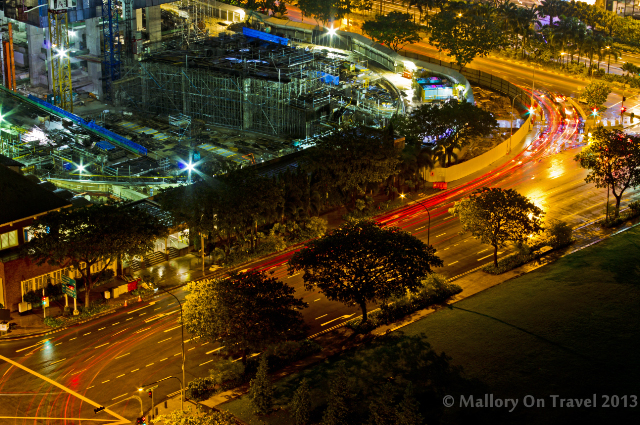 The night time streets of Singapore from the Swissotel, Stamford on Mallory on Travel adventure, adventure travel, photography Iain Mallory-300-5_singapore