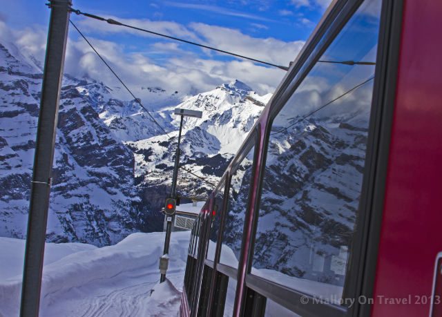 The Jungfrau railway service which runs to the the Jungfraujoch, Bernese Alps, Switzerland on Mallory on Travel adventure, adventure travel, photography Iain Mallory-300-8 jungfrau_train