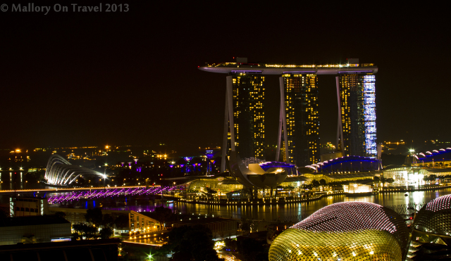 View of the Marina Bay Sands in Singapore from the balcony of the Swissotel, Stamford on Mallory on Travel adventure, adventure travel, photography Iain Mallory-300_marinasands_singapore