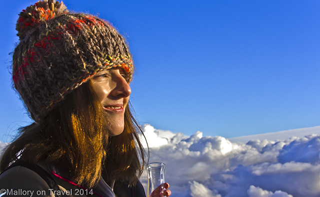 Happy in the clouds over La Garrotxa, Catalan Pyrenees, Spain on Mallory on Travel adventure, adventure travel, photography Iain Mallory-300-36