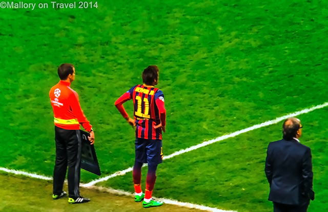 Neymar of FC Barcelona at the Etihad Stadium, Manchester on Mallory on Travel adventure, adventure travel, photography