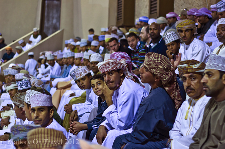 Male audience at the Muscat festival in Oman on Mallory on Travel adventure, adventure travel, photography Iain Mallory-308 muscat_festival