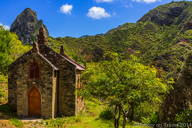 Lot Rock and Baptist church on the British overseas territory of St Helena, in the South Atlantic on Mallory on Travel adventure, adventure travel, photography Iain Mallory-300-23 st_helena