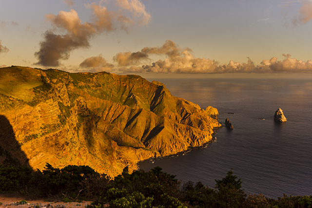 Sunset off South West Point, overlooking Sperry Island on St Helena, in the South Atlantic on Mallory on Travel adventure, adventure travel, photography Iain Mallory-300-6 sperry_island