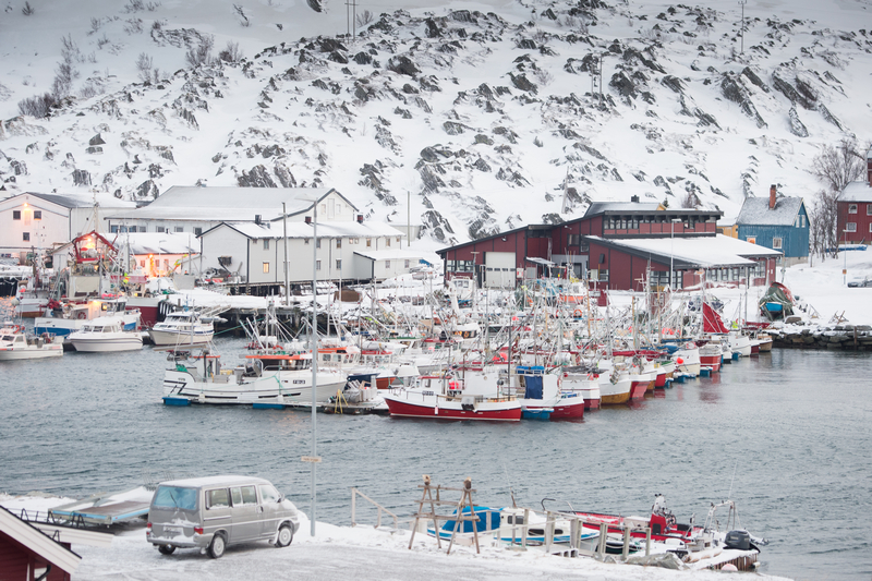 The port of Vardo, in Hurtigruten, northern Norway on Mallory on Travel adventure, adventure travel, photography