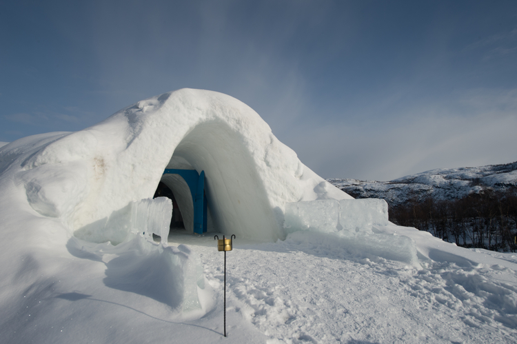 Kirkenes snow hotel in Hurtigruten, Arctic Norway on Mallory on Travel adventure, adventure travel, photography