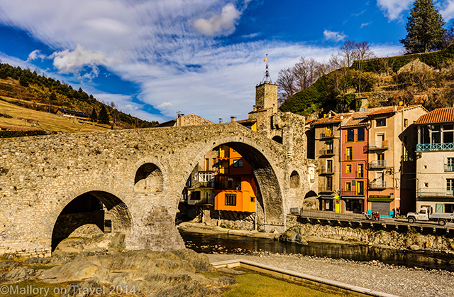 El Pont Nou (New Bridge in Camprodon in the Catalan Pyrenees, Spain on Mallory on Travel adventure, adventure travel, photography Iain Mallory-101 camprodon