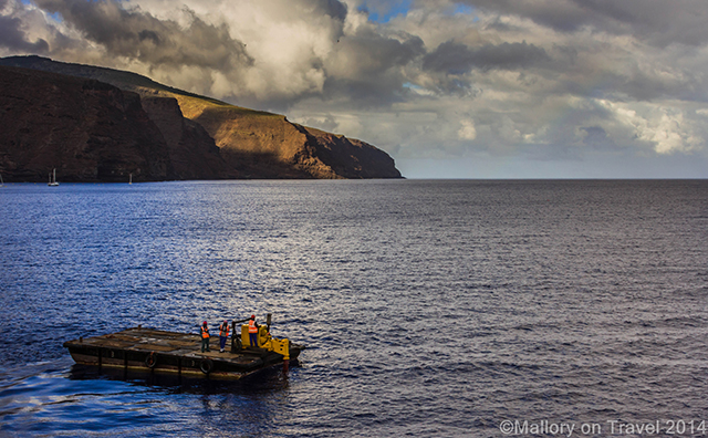 Cargo removal from the RMS St Helena at Jamestown on St Helena on Mallory on Travel adventure, adventure travel, photography Iain Mallory-300-3 st_helena