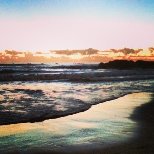 Sunrise on the beach at Currumbin on the Gold Coast, Queensland in Australia on Mallory on Travel adventure, adventure travel, photography malloryontravel_sands_time