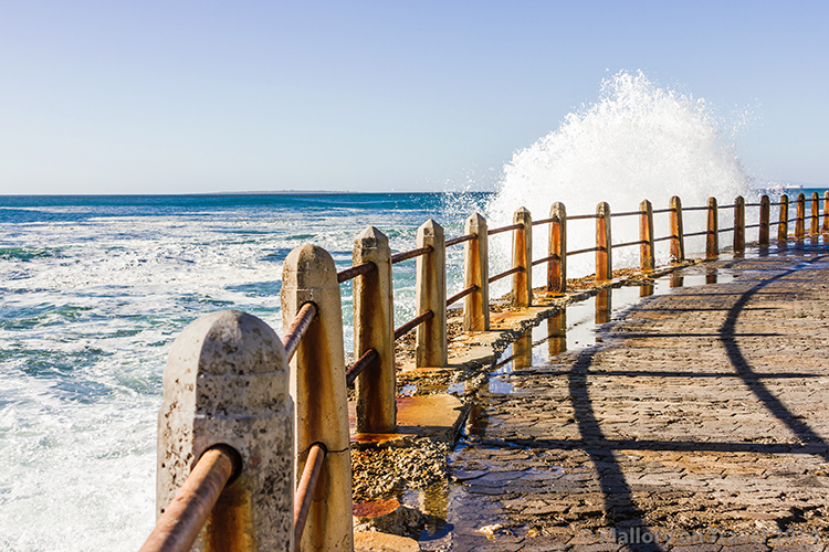 Cape Town photography; crashing waves of the Atlantic Ocean, Sea Point, Cape Town in South Africa on Mallory on Travel adventure, adventure travel, photography Iain Mallory-300-121 cape_town