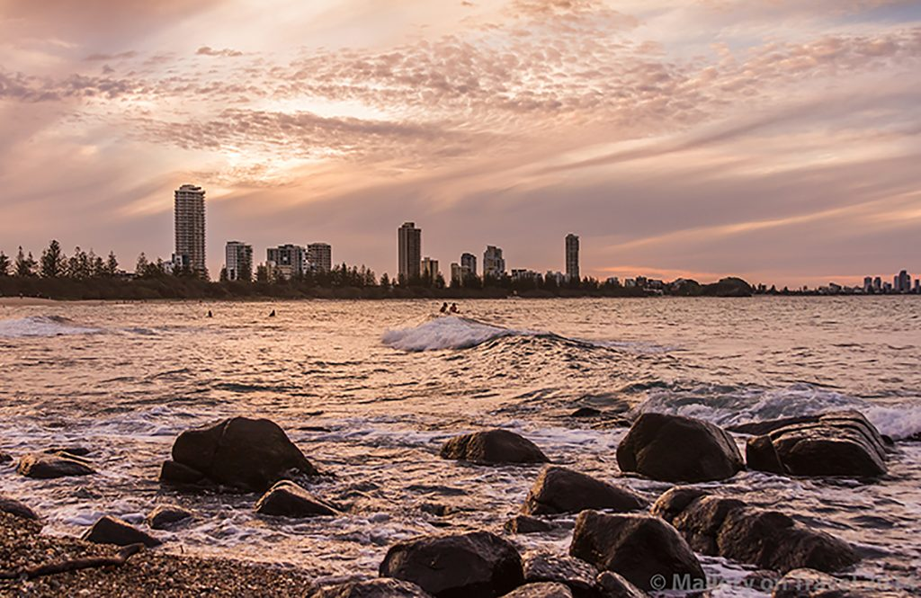Waiting surfer on the Gold Coast, Queensland in Australia from Burleigh Head on Mallory on Travel adventure, adventure travel, photography Iain Mallory-300-16 waiting_surfer