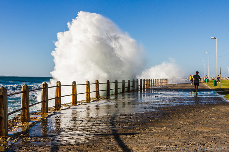 Cape Town photography; crashing waves of the Atlantic Ocean, Sea Point, Cape Town in South Africa on Mallory on Travel adventure, adventure travel, photography Iain Mallory-300-161 cape_town
