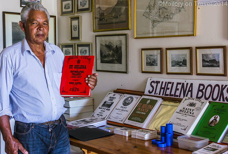 Curator at Princes House on remote island of St Helena in the South Atlantic on Mallory on Travel adventure, adventure travel, photography Iain Mallory-300-27 princes_house