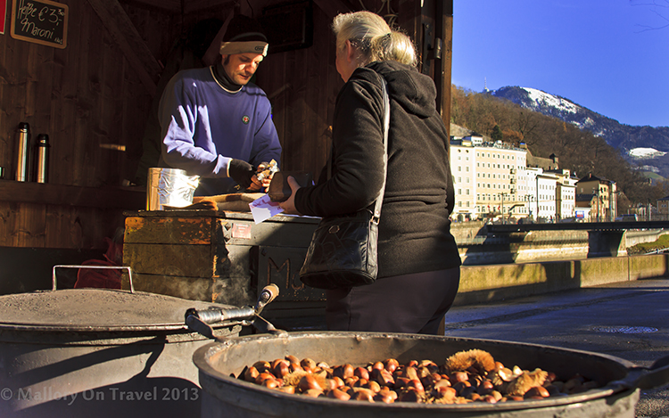 Riverside food seller on the banks of the Danube in Salzburg, Austria on Mallory on Travel adventure, adventure travel, photography Iain Mallory-300-3 salzburg